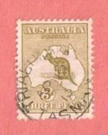 "AUS SC #5 Used - 1913 Kangaroo And Map W/SON ""TRIABUNNA / TASMANIA / AP 18 13"", CV $17.50 - Used Stamps"