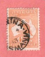 AUS SC #6 Used - 1913 Kangaroo And Map, CV $40.00 - Used Stamps