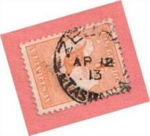 "AUS SC #6 Used - 1913 Kangaroo And Map ""AP 12 13 / TASMANIA"", CV $40.00 - Used Stamps"
