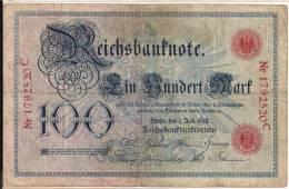 Germany - 1898 - P20 - 100 Marks - VF - [ 2] 1871-1918 : Duitse Rijk