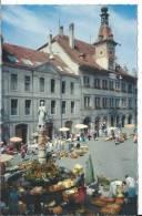 CPM, LAUSANNE: Place De La Palud, Hotel De Ville, Jour De Marché - VD Vaud