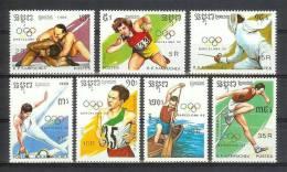 Mua315 SPORT OLYMPISCHE SPELEN KOGELSTOTEN TURNEN WRESTLING RUNNING KAJAK OLYMPIC GAMES CAMBODGE KAMPUCHEA 1989 PF/MNH - Zomer 1992: Barcelona