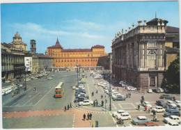 Torino - Piazza Castello: 50 + AUTOMOBILI , FIAT, ALFA Etc., DOUBLE- DECKER BUS- Auto/Car - Italia - Turismo