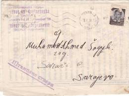 KOLONIJALNA KADNJA ,SKOLJE 1938 LETTRE,Yougoslavie. - 1931-1941 Kingdom Of Yugoslavia