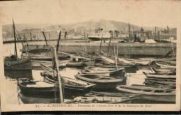 Carte Sépia 35. CHERBOURG. Panorama De L'Avant.Port Et De La Montagne Du Roule ,avec BATEAUX - Cherbourg