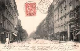 92 CLICHY BOULEVARD NATIONAL ANIMEE CARTE PRECURSEUR CIRCULEE 1903 - Clichy