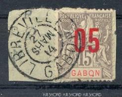 Marke, Auf Briefstück,  Mit Rotem Aufdr. 05, Sauber Gestempelt, Frankreich &Kolonien - Gabun (1960-...)