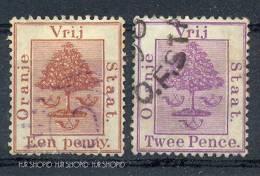 2 X Marken, Gestempelt, Oranje Freistaat (1868-1909) - África Del Sur (...-1961)