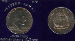 SAMOA $1 TALA LINDBERGH USA-EUROPE FLIGHT AIRPLANE FRONT EMBLEM BACK 1977 UNC KM? READ DESCRIPTION CAREFULLY !!!