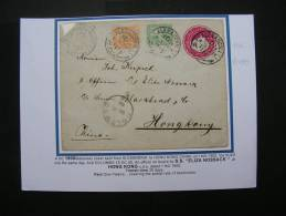 == Egypt, Sationery To Hong Kong  1900 Via Suez, Colombo China  By Ship - Hong Kong (...-1997)