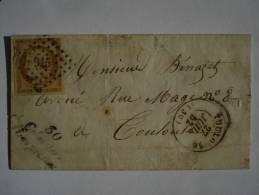 Lettre Avec N°1 De COLOMIERS LASPLANES Et Cursive - Postmark Collection (Covers)