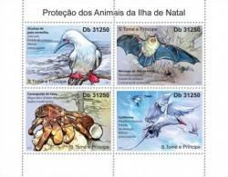 S. TOME & PRINCIPE 2011 - Animals Of Christmas Is., Crab - YT 3928-31 - Schaaldieren