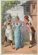 Chromo Mode Costume Opera La Tzigane Aux Fabriques De France Rue Neuve Bruxelles Litho Laas - Chromos