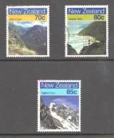 New Zealand 1988 Walking Tracks 3 Values Used - New Zealand
