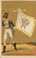 Chromo Drapeau Infanterie Soldat 8èm Régiment Legrand Ixelles Mercerie - Chromos