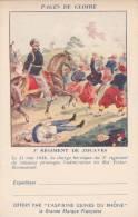CPFM 1940 - Aspirines Du Rhone - 2 Lignes Adresse - 3ème Régiment Zouaves - Non Circulé - Roi Victor-Emmanuel - Tarjetas De Franquicia Militare