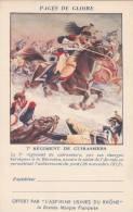 CPFM 1940 - Aspirines Du Rhone - 2 Lignes Adresse - 7ème Régiment Cuirassiers - Non Circulé - Cavalerie - Tarjetas De Franquicia Militare