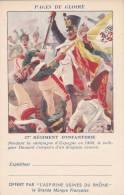 CPFM 1940 - Aspirines Du Rhone - 2 Lignes Adresse - 27ème Régiment Infanterie- Non Circulé - Espagne - Storia Postale