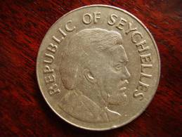 SEYCHELLES 1976 INDEPENDENCE ONE RUPEE Copper-nickel Coin USED In Very Good Condition. - Seychelles