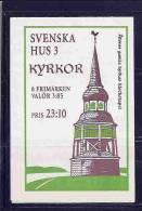 SWEDEN  - HYRKOR -  BOOKLET - CARNET - Yvert # C 1958 - Complete - VF USED - Booklets