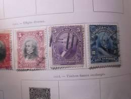 COLLECTION TIMBRES  EQUATEUR DEBUT 1898  OBLITERES  OU NEUFS AVEC CHARNIERE - Equateur