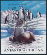 CHILE 1999 ANTARTICA CHILENA, FUR SEAL & ANTARCTIC PENGUINS Minisheet** - Antarctic Wildlife