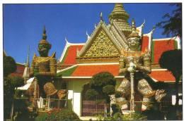 Two Demon Gate-Guardians, Temple Of Dawn, Bangkok - TST Unused - Thailand