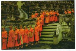 Buddhist Priests In The Temple Of Dawn, Bangkok - TST Unused - Thailand