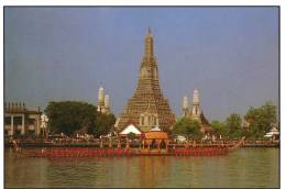 Royal Barge In Front Of The Temple Of Dawn, Bangkok - TST Unused - Thailand