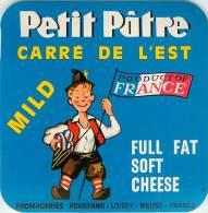 Etiquette. Ref. 216. Camembert Petit Pâtre - Product Of France - Sheperd Boy - Carré De L´Est - Fromage