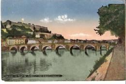 Namur- Le Pont De Jambes Et Vue Sur  La Citadelle- Colorisée- - Namur