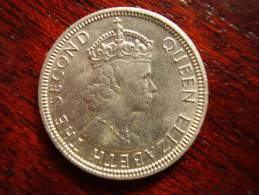 MAURITIUS 1975 QUARTER RUPEE Copper-nickel Coin USED In Good Condition. - Mauritius