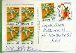 1992, 6 X - Marken Auf Karte Gelaufen. - Senegal (1960-...)