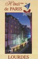 FRANCE LOURDES HOTEL DE PARIS VINTAGE BUSINESS CARD - Hotel Labels