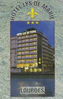 FRANCE LOURDES HOTEL LYS DE MARIE VINTAGE BUSINESS CARD - Etiketten Van Hotels