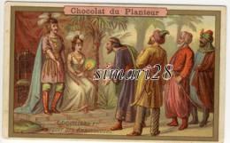 CHROMO CHOCOLAT DU PLANTEUR - COQUILLARD 1er RECOIT LES AMBASSADEURS - Chocolat
