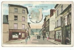 Creil, Rue De La Republique, Cpa Couleur, - Creil
