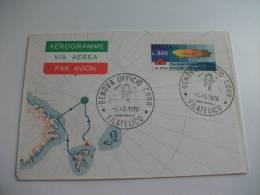 Aerogramme Via Aerea Par Avion  Cinquantenario Del Volo Al Polo Nord Dirigibile Italia - 6. 1946-.. Repubblica