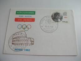 Aerogramme Via Aerea Par Avion Roma 1982 Comitato Olimpico - 6. 1946-.. Repubblica