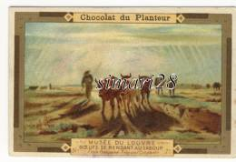CHROMO CHOCOLAT DU PLANTEUR - N° 73 - MUSEE DU LOUVRE - BOEUFS SE RENDANT AU LABOUR - Chocolat