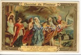 CHROMO CHOCOLAT DU PLANTEUR - N° 72 - MUSEE DU LOUVRE - LA FUITE DE LOTH - Chocolat