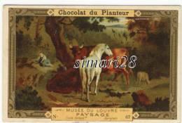 CHROMO CHOCOLAT DU PLANTEUR - N° 67 - MUSEE DU LOUVRE - PAYSAGE - Chocolat