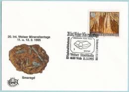 Autriche / Austria (1995) - Wels : Cristal De Bénitoïte / Benitoite Crystal. 20e Journée Internat. De Minéralogie. - Minéraux