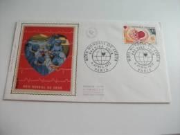 Annullo Speciale Mois Mondial Du Coeur 1972 Paris - FDC