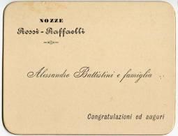 BIGLIETTO PARTECIPAZIONE NOZZE ROSSI RAFFAELLI JESI ANCONA ANNO 1898 - Boda