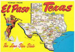 Map Of Texas Howdy From El Paso