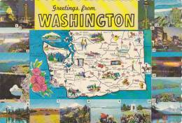 Map Of Washington Greetings From
