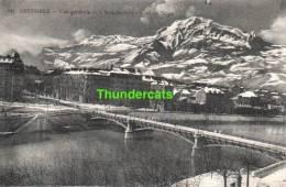 CPA 38 ISERE  GRENOBLE  VUE GENERALE ET LE MOUCHEROTTE EFFET DE NEIGE - Grenoble