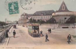 Les Quais Et Le Chateau 1910.tramway - Nantes