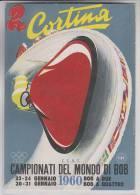 Cortina CAMPIONATI DEL MONDO DI BOB 1960  ANNULLO FILATELICO - Sport Invernali